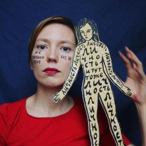 Bild av ryska konstnären och läraren Darja Apahontjitj