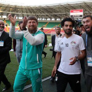 Ramzan Kadyrov och Mohamed Salah.