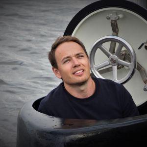 Martin Hedin in his U-Boat