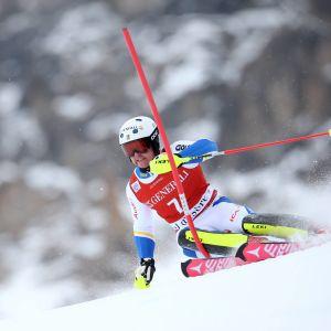 Mattias Hargin åker slalom.