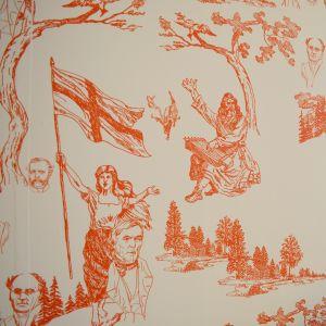 Nationalromantiska motiv kan hittas i den japanska konstnären Tatzu Nishis tapet.