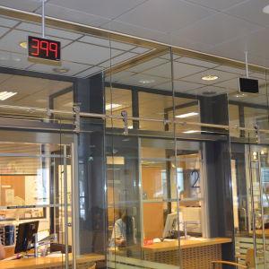 Väntrummet vid Haartmanska sjukhuset i Helsingfors.