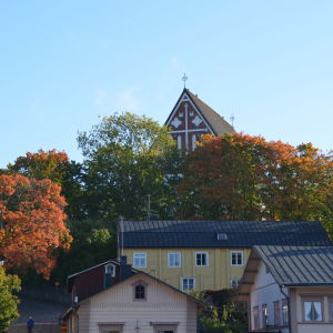 Höstlig vy i Borgå