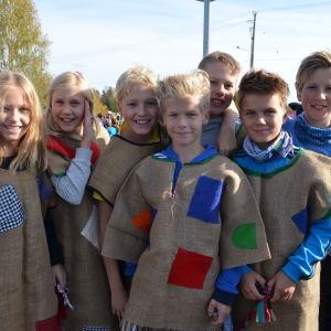 Elever vid Söderkulla skola i Sibbo