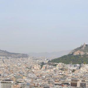 Vy över Aten från Akropolis.