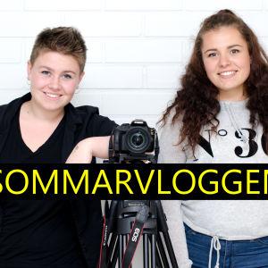 Rebecca Olin och Lotta Puisto vloggar på Sommarvloggen.