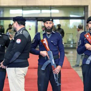 Skärpt säkerhet under Narendra Modis besök i Pakistan i december 2015.