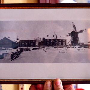 Ett gammalt foto av gården Åppsto i Västerhankmo, Korsholm.