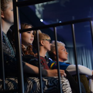 MGP-juryn Benjamin, Ella Sanoo och Eva Kela.