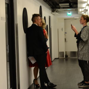 Anna-Karin och Jontti backstage under MGP 2016.
