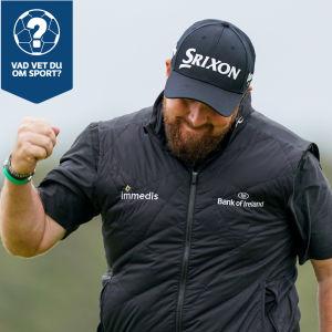 En golfspelare firar seger i British Open.
