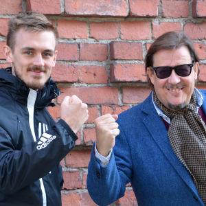 Mika-Rainer & Rolf Gustavson från Borgå-bandet Spitfires