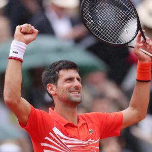 Novak Djokovic firar.