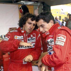 Alain Prost och Ayrton Senna körde i samma stall 1988 och 1989.