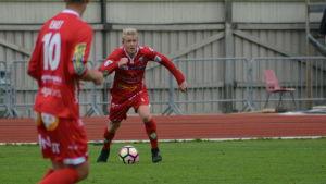 Brock Messenger har spelat för FF Jaro under säsongen 2017.