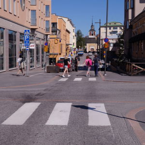 Jakobstads centrum.