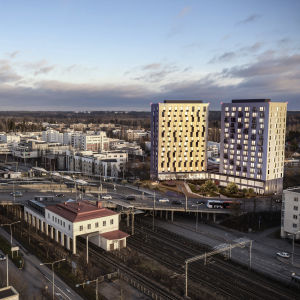 Aivan Malmin keskukseen Helsingissä nousee kaksoistornitalo