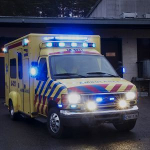 Ambulans med blinkers