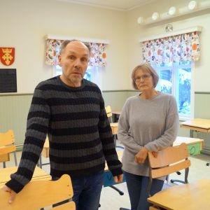 Rektor Johan Boholm och läraren Agneta Östman.