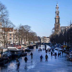 Skridskoåkning i Amsterdam 13.2.2021