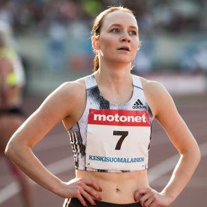Reetta Hurske efter tävling i Jyväskylä.