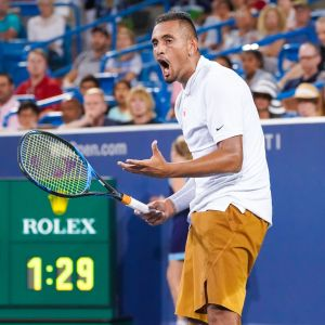 Nick Kyrgios tappade humöret i Cincinnatis ATP-turnering.