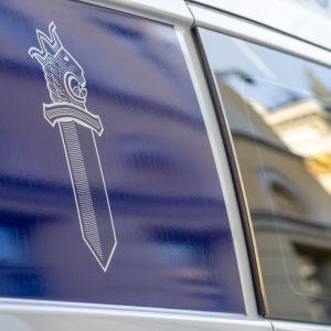 Poliisiauto Helsingissä. 3.3.2021.
