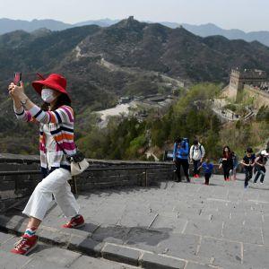 Besöker på Kinesiska muren 18.4.2020