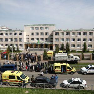 Skola i Kazan i Ryssland där skolskjutning inträffade