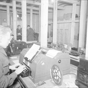 12.2.1940 Lennätinasema KESK Keskuskansakoulun kellarissa Mikkelissä