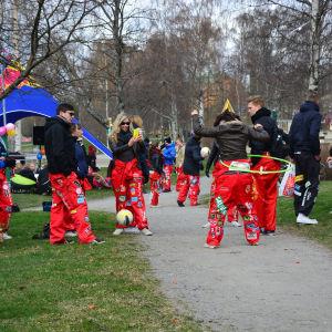 Valborgsfirande i Vasa.