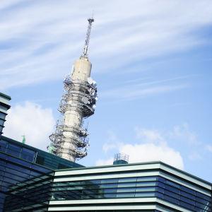 Pasilan rakennuksia ja linkkitorni