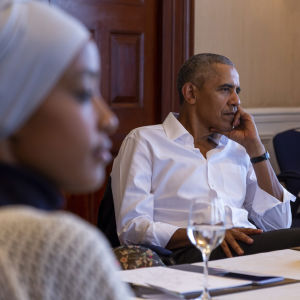 Maryan Abdulkarim vieraana presidentin vastaanotolla.
