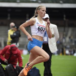 Nathalie Blomqvist i Sverigekampen 2017.