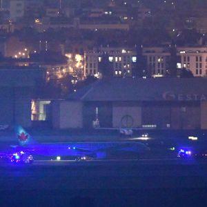 Passagerarplan tillhörande Air Canada gjorde en lyckad nödlandning i Madrid den 3 februari 2020.