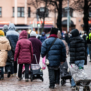 Julmat delas ut till mindre bemedlade i Helsingfors.