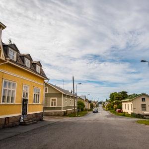 En gata i Räfsö utanför Björneborg.