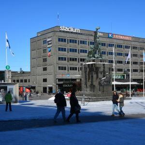 Frihetsstatyn på torget i Vasa.