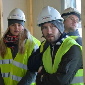 Porträtt av Isabella Asplund, Simon Selin och Mattias Åhman.