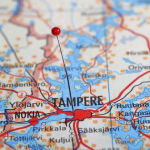 Karta över Tammerfors.