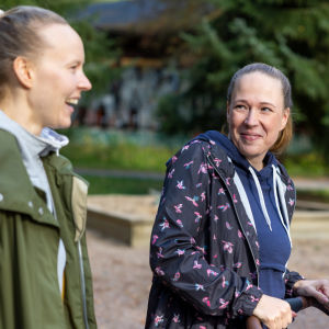 Paula Uusiluoto ja Anu Plym