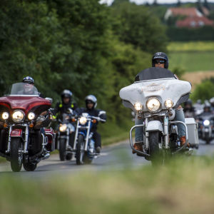 Harley-Davidson-evenemang i Ungern i juni 2017.