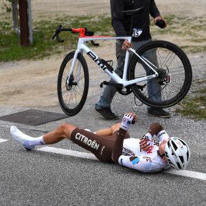 Jaakko Hänninen kaatui Lombardian ympäriajossa