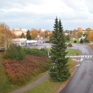 Teboiltomten i Hangö.