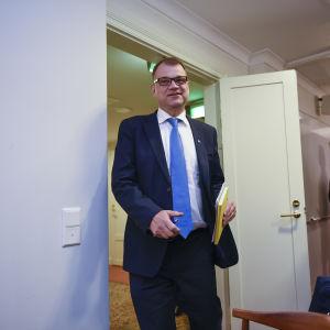 Statsminister Juha Sipilä i Villa Bjälbo den 13 juni 2017.