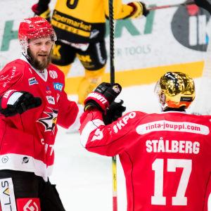 Sebastian Stålberg jublar.