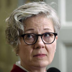 Närbild av riksförlikningsman Vuokko Piekkala.