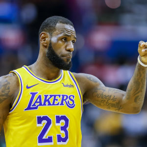 Lebron James spelar i Los Angeles Lakers.