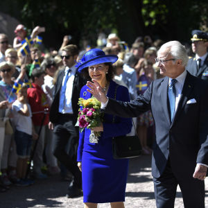 Svenska kungaparet firar 40-årsbröllopsdag