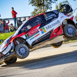Jari-Matti Latvala i Portugals VM-rally.